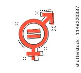 vector cartoon gender equal... | Shutterstock .eps vector #1146220337
