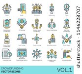 crowdfunding flat vector icons. ... | Shutterstock .eps vector #1146228707