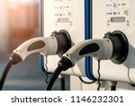 electric car charging station.... | Shutterstock . vector #1146232301
