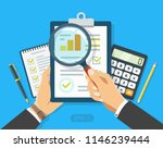 paper sheet in hand with... | Shutterstock .eps vector #1146239444