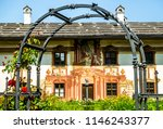 famous old town oberammergau  ... | Shutterstock . vector #1146243377