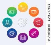 modern  simple vector icon set...   Shutterstock .eps vector #1146247511