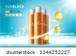 sunblock ads template  sun... | Shutterstock .eps vector #1146252227