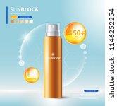 sunblock ads template  sun... | Shutterstock .eps vector #1146252254