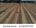 drone flight over a straw round ... | Shutterstock . vector #1146255704