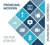 modern  simple vector icon set... | Shutterstock .eps vector #1146258311