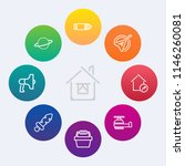 modern  simple vector icon set... | Shutterstock .eps vector #1146260081