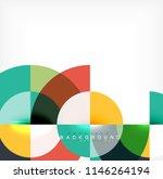 minimal circle abstract... | Shutterstock .eps vector #1146264194