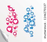 new heart love  like  thumbs up.... | Shutterstock .eps vector #1146270137