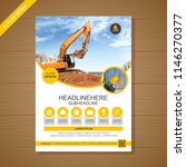 construction cover a4 template... | Shutterstock .eps vector #1146270377