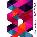 multicolored triangles abstract ... | Shutterstock .eps vector #1146285347