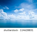 beautiful blue sky sea view | Shutterstock . vector #114628831