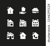 rent icon set with house vector ... | Shutterstock .eps vector #1146295124