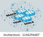 reach your goals business... | Shutterstock .eps vector #1146296687