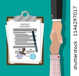 contract agreement paper blank... | Shutterstock .eps vector #1146297017
