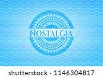 nostalgia light blue water wave ...   Shutterstock .eps vector #1146304817