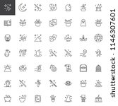 magic elements outline icons...   Shutterstock .eps vector #1146307601