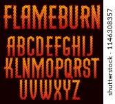vector script  modern alphabet... | Shutterstock .eps vector #1146308357