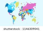 color world map vector | Shutterstock .eps vector #1146309041