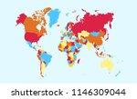 color world map vector   Shutterstock .eps vector #1146309044