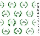 green and white film award... | Shutterstock .eps vector #1146313421