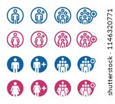 people and population icon set | Shutterstock .eps vector #1146320771