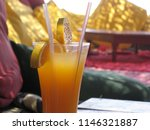 fresh juiced drink by the red...   Shutterstock . vector #1146321887