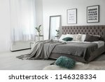 elegant room interior with... | Shutterstock . vector #1146328334