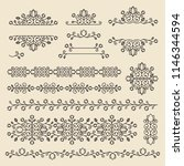 vintage ornaments and dividers. ... | Shutterstock .eps vector #1146344594
