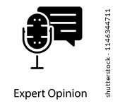a microphone with chat bubble... | Shutterstock .eps vector #1146344711
