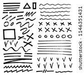 hand drawn brush raw textured...   Shutterstock .eps vector #1146351431