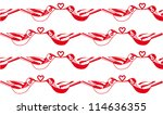 vector red and white seamless... | Shutterstock .eps vector #114636355