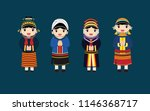 the hill tribes in thailand | Shutterstock .eps vector #1146368717