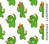vector seamless pattern with... | Shutterstock .eps vector #1146390434