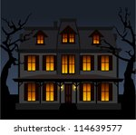 haunted house in the night....   Shutterstock .eps vector #114639577