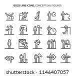 conceptual figures  bold line... | Shutterstock .eps vector #1146407057