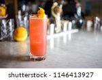pink and orange summer cocktail ... | Shutterstock . vector #1146413927