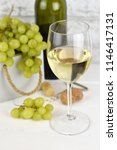 fragrant delicious grapes and a ... | Shutterstock . vector #1146417131