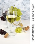 fragrant delicious grapes and a ... | Shutterstock . vector #1146417134