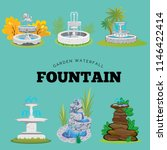set of outdoors fountain for... | Shutterstock .eps vector #1146422414