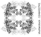 vintage baroque frame scroll...   Shutterstock .eps vector #1146422741