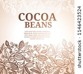 cacao beans plant  vector... | Shutterstock .eps vector #1146423524