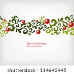 christmas seamless ornament... | Shutterstock .eps vector #114642445