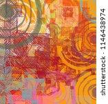 contemporary art. hand made art.... | Shutterstock . vector #1146438974