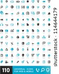 110 universal icons for web  ... | Shutterstock .eps vector #114644179