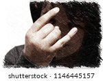 troubled hispanic 13 years old... | Shutterstock . vector #1146445157