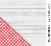 red corner tablecloth on white... | Shutterstock .eps vector #1146457034