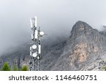 transmitter station on top of a ... | Shutterstock . vector #1146460751