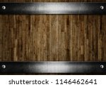 old metal plates with rivets on ... | Shutterstock . vector #1146462641