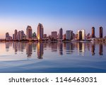 sunset illuminating the tall... | Shutterstock . vector #1146463031